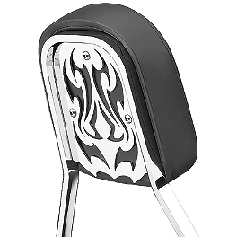 Cobra Steel Sissy Bar Insert - Tribal - 2007 Honda VTX1800F1 Cobra Front Floorboards Swept - Chrome