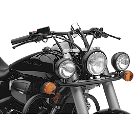 Cobra Lightbar - Black - 2012 Honda Shadow Phantom 750 - VT750C2B Cobra Headlight Visor - 7 1/2