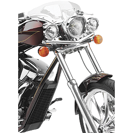 Cobra Lightbar - Chrome - 2011 Honda Shadow RS 750 - VT750RS Show Chrome Driving Light Kit - Elliptical