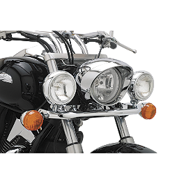 Cobra Lightbar - Chrome - 2002 Honda VTX1800S Show Chrome Driving Light Kit - Elliptical