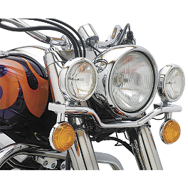 Cobra Lightbar - Chrome - 2001 Kawasaki Vulcan 800 Classic - VN800B Cobra Headlight Visor - 7 1/2