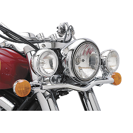 Cobra Lightbar - Chrome - 2009 Yamaha V Star 1300 - XVS13 Cobra Headlight Visor - 7 1/2