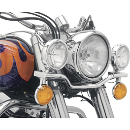 Cobra Lightbar - Chrome - 1999 Honda Shadow VLX - VT600C Cobra Headlight Visor - 7 1/2