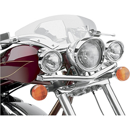 Cobra Lightbar Relocator Kit - 2005 Honda Shadow Spirit 1100 - VT1100C Cobra Front Floorboards Swept - Chrome