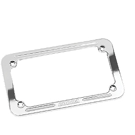 "Cobra Billet License Plate Frame - 4.5""X7"" - 2004 Kawasaki Vulcan 1600 Mean Streak - VN1600B Cobra Front Floorboards Swept - Chrome"