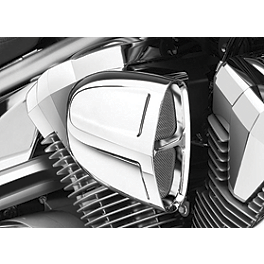 Cobra PowrFlo Air Intake System - Chrome - 2013 Honda Fury 1300 ABS - VT1300CXA Cobra Headlight Visor - 7 1/2