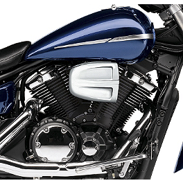 Cobra PowrFlo Air Intake System - Chrome - 2007 Yamaha V Star 1300 Tourer - XVS13CT Cobra Headlight Visor - 7 1/2