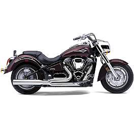 Cobra Power Pro HP 2 Into 1 Exhaust - 2005 Kawasaki Vulcan 2000 Limited - VN2000D Cobra Headlight Visor - 7 1/2