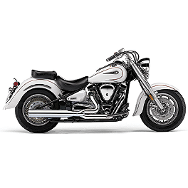Cobra Power Pro HP 2 Into 1 Exhaust - 2009 Yamaha Road Star 1700 Silverado S - XV17ATS Cobra Headlight Visor - 7 1/2
