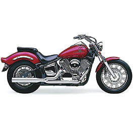 Cobra Power Pro HP 2 Into 1 Exhaust - 2000 Yamaha V Star 1100 Classic - XVS1100A Cobra Headlight Visor - 7 1/2