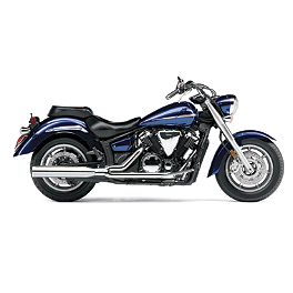 Cobra Power Pro HP 2 Into 1 Exhaust - 2010 Yamaha V Star 1300 Tourer - XVS13CT Cobra Scalloped Tip Slip-On Exhaust