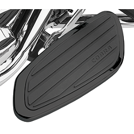 Cobra Swept Passenger Floorboards - Black - Cobra Passenger Floorboards - Swept Chrome