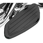 Cobra Swept Passenger Floorboards - Black - Cobra Cruiser Controls