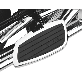 Cobra Passenger Floorboards - Swept Chrome - 2009 Kawasaki Vulcan 2000 Classic - VN2000H Cobra Formed Sissy Bar Luggage Rack - Chrome