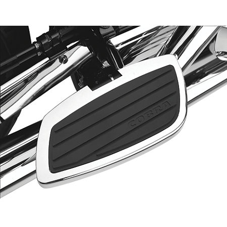Cobra Passenger Floorboards - Swept Chrome - Main