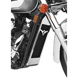 Cobra Radiator Cover - 2007 Honda Shadow Aero 750 - VT750CA Cobra Front Floorboards Swept - Chrome