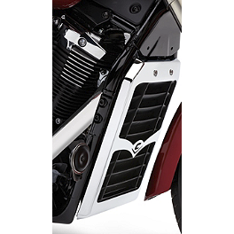 Cobra Radiator Cover - 2011 Yamaha V Star 1300 Tourer - XVS13CT Cobra Headlight Visor - 7 1/2