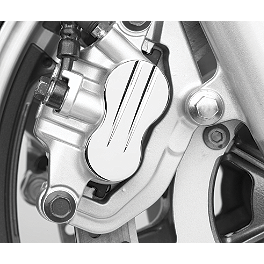 Cobra Rear Brake Caliper Cap - Swept - 2008 Kawasaki Vulcan 1600 Classic - VN1600A Cobra Lightbar - Chrome