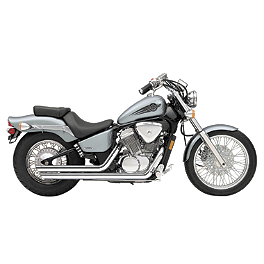 Cobra Streetrod Slashdown Exhaust - 1991 Honda Shadow VLX - VT600C Cobra Headlight Visor - 7 1/2