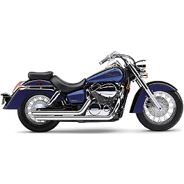 Cobra Streetrod Slashdown Exhaust - 2007 Honda Shadow Aero 750 - VT750CA Cobra Front Floorboards Swept - Chrome