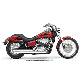 Cobra Streetrod Slashdown Exhaust - 2008 Honda Shadow Aero 750 - VT750CA Cobra Headlight Visor - 7 1/2