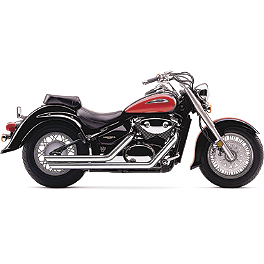 Cobra Streetrod Slashdown Exhaust - 2004 Suzuki Volusia 800 LE - VL800Z Cobra Sissy Bar Luggage Rack - Chrome