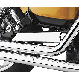 Cobra Swingarm Cover - 2005 Honda VTX1800N1 Cobra Passenger Floorboards - Swept Chrome