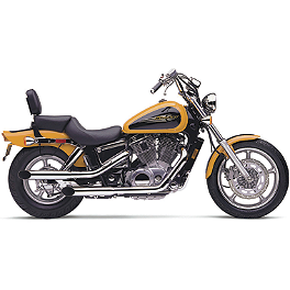 Cobra Slash Cut Slip-On Exhaust - 2003 Honda Shadow Spirit 1100 - VT1100C Cobra Classic Slashcut Exhaust