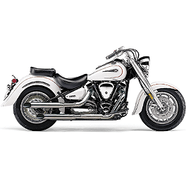Cobra Slash Cut Slip-On Exhaust - 2007 Yamaha Road Star 1700 - XV17A Cobra Lightbar - Chrome