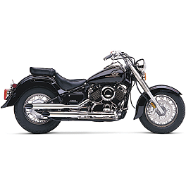 Cobra Slash Cut Slip-On Exhaust - 2003 Yamaha V Star 650 Silverado - XVS650AT Cobra Headlight Visor - 7 1/2
