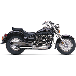 Cobra Slash Cut Slip-On Exhaust - 2008 Yamaha V Star 650 Custom - XVS65 Cobra Drag Pipe Exhaust