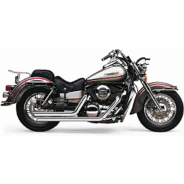 Cobra Speedster Slashdown Exhaust - 2003 Kawasaki Vulcan 1500 Mean Streak - VN1500P Cobra Front Floorboards Swept - Chrome