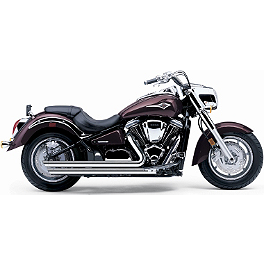 Cobra Speedster Slashdown Exhaust - 2009 Kawasaki Vulcan 2000 Classic LT - VN2000J Cobra Power Pro HP 2 Into 1 Exhaust