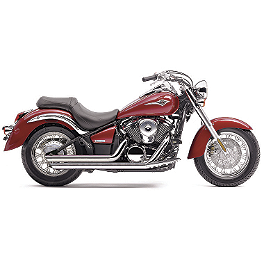 Cobra Speedster Slashdown Exhaust - 2008 Kawasaki Vulcan 900 Classic - VN900B Cobra Sissy Bar Luggage Rack - Chrome