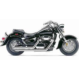Cobra Speedster Slashdown Exhaust - 2007 Suzuki Boulevard C90 - VL1500B Cobra Lightbar - Chrome