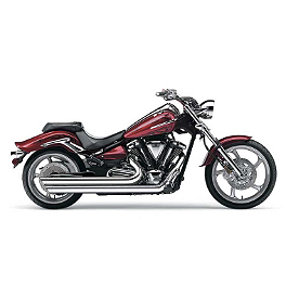 Cobra Speedster Slashdown Exhaust - 2009 Yamaha Raider 1900 S - XV19CS Cobra Saddlebag Supports - Chrome