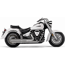 Cobra Speedster Slashdown Exhaust - 2001 Yamaha V Star 1100 Custom - XVS1100 Cobra Sissy Bar Luggage Rack - Chrome