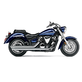 Cobra Speedster Slashdown Exhaust - 2010 Yamaha V Star 1300 Tourer - XVS13CT Cobra Scalloped Tip Slip-On Exhaust
