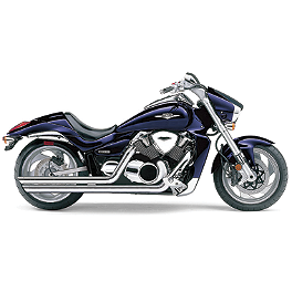 Cobra Speedster Slashdown Exhaust - 2009 Suzuki Boulevard C109RT - VLR1800T Cobra Lightbar - Chrome