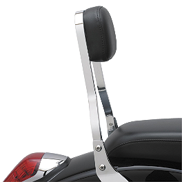 Cobra Short Sissy Bar - Chrome - 2002 Honda VTX1800C Cobra Front Floorboards Swept - Chrome