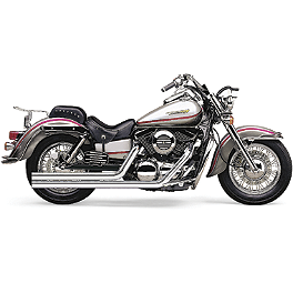 Cobra Speedster Long Exhaust - 2008 Kawasaki Vulcan 1500 Classic Fi - VN1500N Cobra Sissy Bar Luggage Rack - Chrome