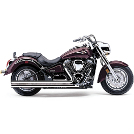 Cobra Speedster Long Exhaust - 2010 Kawasaki Vulcan 2000 Classic LT - VN2000J Cobra Lightbar - Chrome