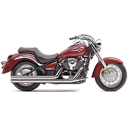 Cobra Speedster Long Exhaust - 2010 Kawasaki Vulcan 900 Classic - VN900B Cobra Passenger Floorboards - Chrome