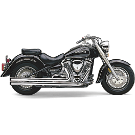 Cobra Speedster Long Exhaust - 2007 Yamaha Road Star 1700 - XV17A Cobra Lightbar - Chrome