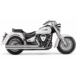 Cobra Speedster Long Exhaust With Bung - 2009 Yamaha Road Star 1700 Silverado S - XV17ATS Cobra Lightbar - Chrome