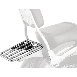 Cobra Sissy Bar Luggage Rack - Chrome - 1998 Kawasaki Vulcan 800 Classic - VN800B Cobra Headlight Visor - 7 1/2