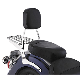Cobra Sissy Bar Pad - Freedom - Cobra Passenger Floorboards - Swept Chrome
