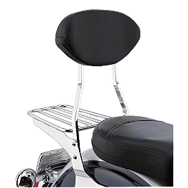 Cobra Sissy Bar Pad - Jumbo - 2000 Yamaha V Star 1100 Custom - XVS1100 Cobra Formed Sissy Bar Luggage Rack - Chrome