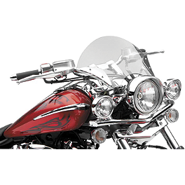 "Cobra 3"" Spotlight Assembly With Visor For Cobra Lightbars - 2004 Kawasaki Vulcan 1600 Mean Streak - VN1600B Cobra Front Floorboards Swept - Chrome"