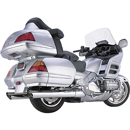 Cobra Scalloped Tip Slip-On Exhaust - 2003 Honda Gold Wing 1800 ABS - GL1800A Cobra Headlight Visor - 7 1/2